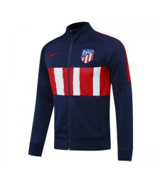 Atletico  Madrid Royal Blue Football Mens Soccer Jacket Red And White Colorblock 2020-2021