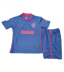 Atletico De Madrid Away Soccer Jersey Kids Kit Football Youth Uniforms 2020-2021