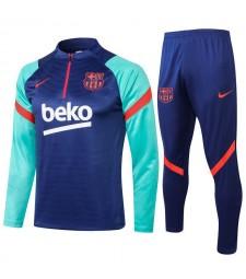Barcelona Blue Soccer Tracksuit Mens Football  Uniforms 2021-2022