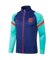 Barcelona Blue High Neck Soccer Jacket Pants Mens Football Tracksuit Uniforms 2021-2022