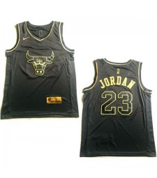 2019 All Star Game chicago bulls jordan 23 black gold nba basketball jersey