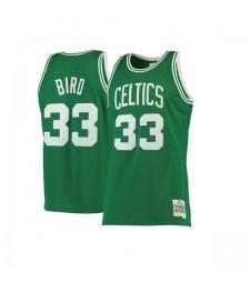 Boston Celtics Larry Bird Mitchell&Ness Kelly 33# Green Hardwood Classics Swingman Jersey 1985-1986