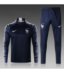 2018 World Cup France Kids Printed Sleeve Royal Blue Tracksuit
