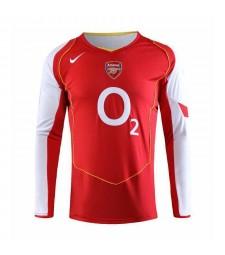 Arsenal Retro Home Long Sleeve Soccer Jerseys Mens Football Shirts Uniforms 2006