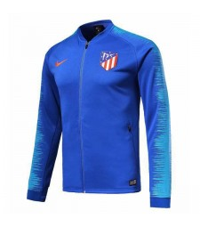 Atletico De Madrid Blue Printed Sleeve Jacket 2018/2019