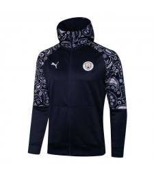 Manchester City Royal Blue Soccer Hoodie Jacket Football Tracksuit Uniforms 2021-2022