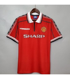 Manchester United Home Retro Soccer Jersey Female Football Uniforms 1998