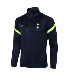 Tottenham Hotspur Royal Blue High Neck Soccer Jacket Mens Football Tracksuit Uniforms 2021-2022
