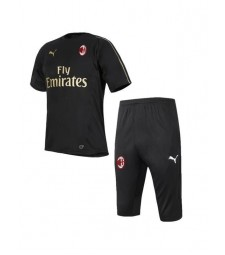 AC Milan Black Training Shirt Kit 2019