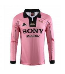 Juventus Away Long Sleeve Retro Mens Soccer Jersey Football Shirt 1997-1998